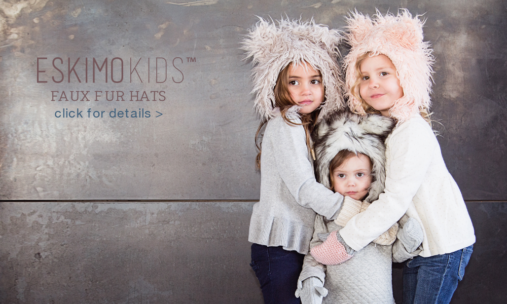 Eskimo Kids faux fur hats are lavish and luxurious for the entire family! Designed to emulate the perfect color and softness of genuine fur.
